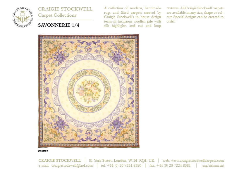 Catalogue Savonnerie