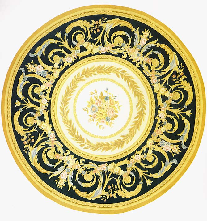 Circular and Shaped Designs | Cliveden in black