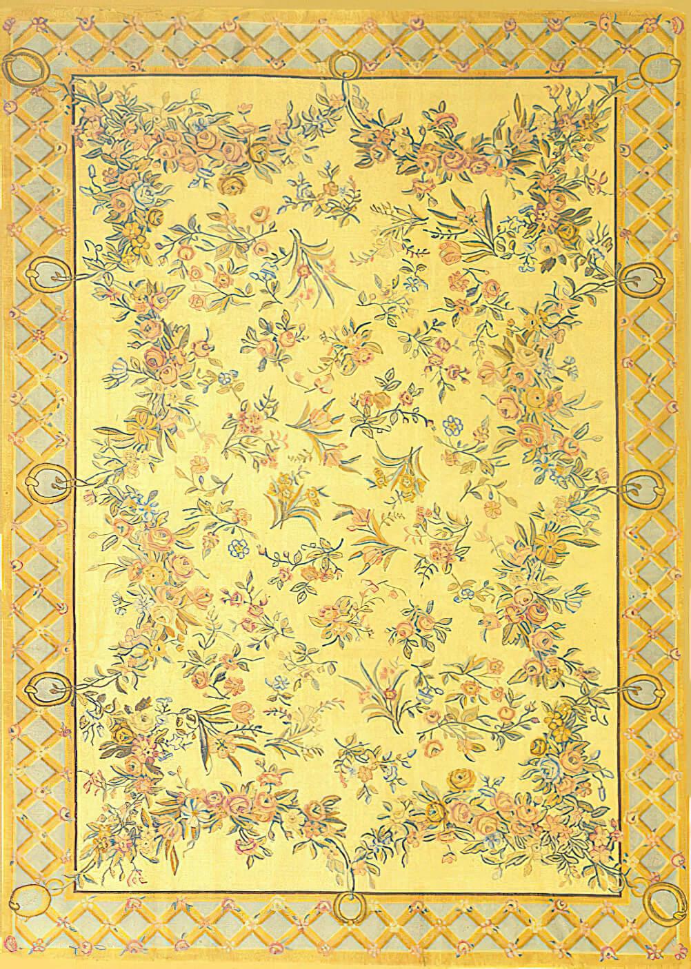 Savonnerie style carpet - Craigie Stockwell