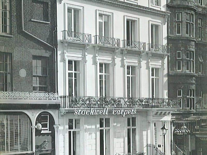 Salle d'exposition et bureaux de Stockwell Carpets de 1952 à 1972