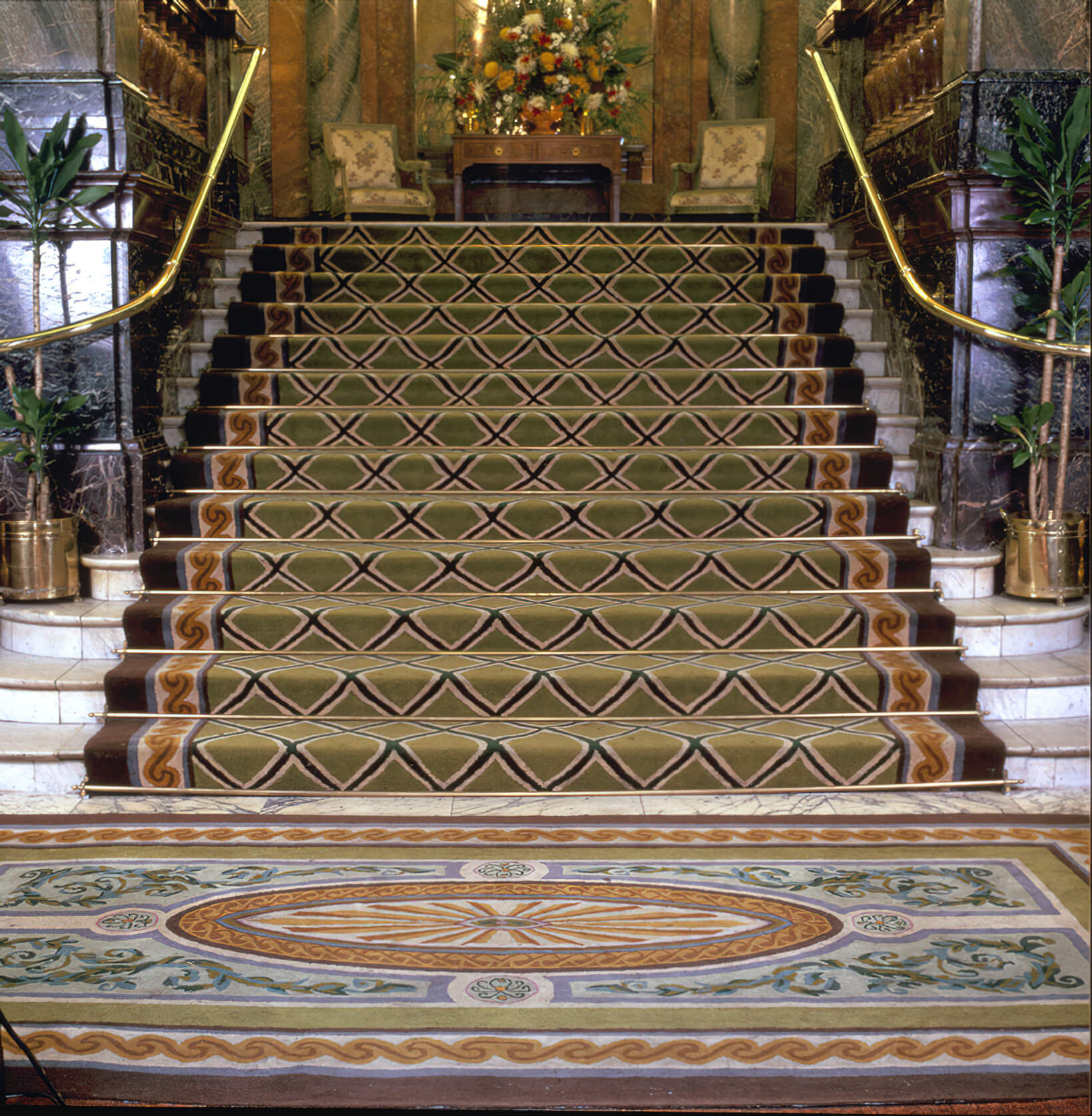 The entrance at the old Hyde Park Hotel in London.